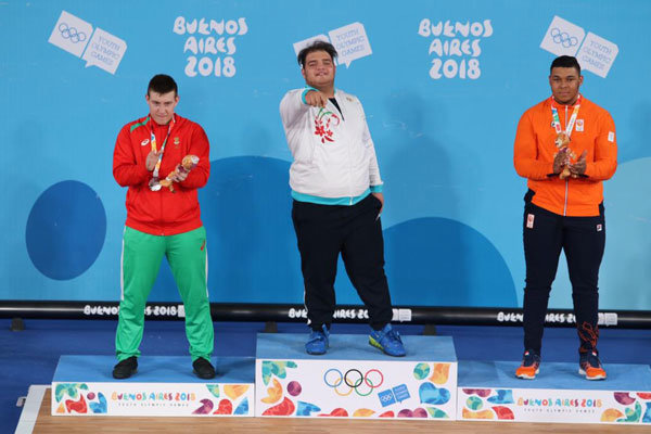 Iran's Yousefi wins weightlifting gold by great comeback