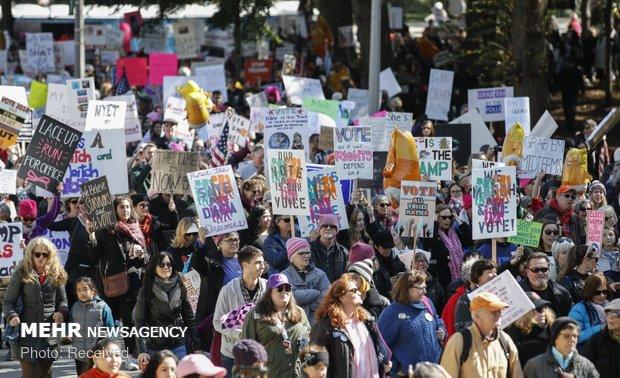 تظاهرات علیه ترامپ در آمریکا