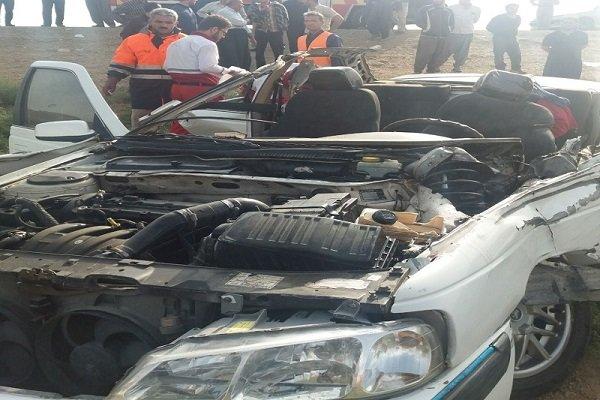 برخورد ۳ خودرو در محور ساوه - همدان ۴ کشته بر جای گذاشت