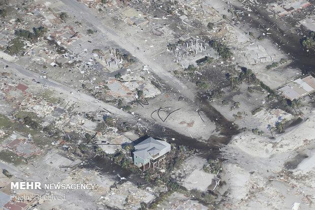 خسارات طوفان مایکل در آمریکا