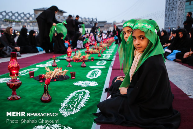 بزرگترین سفره حضرت رقیه(س) در تهران