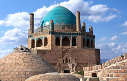 "The mausoleum of Oljaytu, commonly known as ""Dome of Soltaniyeh"" is seen in an undated photo. Located in modern Zanjan province, the monument was constructed in 1302–12 in the city of Soltaniyeh, which was once the capital of the Ilkhanid dynasty, founded by the Mongols."