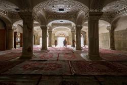 اعداد صحن السيدة فاطمة الزهراء (س) لإستقبال زوار الاربعين / صور