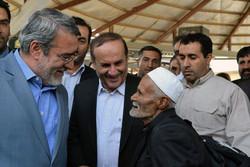 زيارة وزير الداخلية الايراني لحدود مهران المجاورة للعراق/ صور