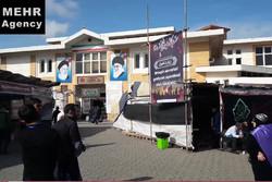حضور زوار خارجی اربعین در پایانه مرزی آستارا