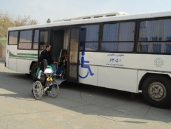 Tehran municipality to make disabled-friendly bus stops