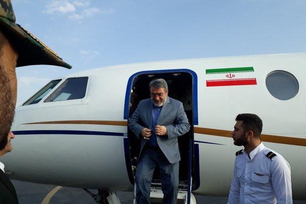 """وزير الداخلية يصل  إلى """"ايلام"""" الحدودية لمتابعة شؤون زوار الأربعين"""