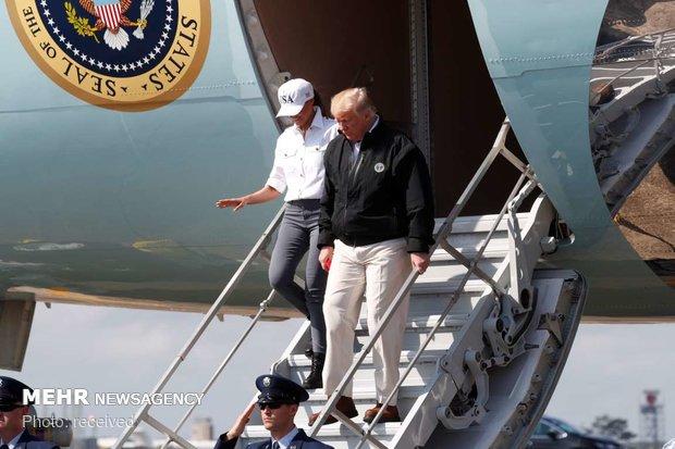 بازدید ترامپ از مناطق طوفان زده فلوریدا