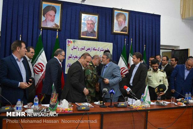 زيارة وزير الداخلية الايراني لحدود مهران المجاورة للعراق