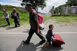 حرکت پناهجویان هندوراسی به سمت آمریکا