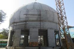 گذری بر روند ساخت گنبد حرم مطهر امام حسین (ع) در کرمان
