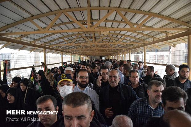 الزوار الإيرانيون في معبر شلمجة الحدودي
