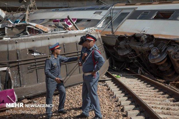 خروج قطار از ریل در مراکش