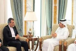 Iran's Jaberi Ansari confers with Qatari FM in Doha