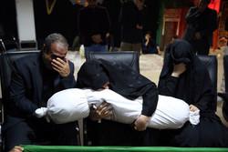 مراسم وداع با پیکر شهید فرمانعلی قربانی پس از ۳۶ سال