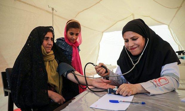 نخستین اردوی جهادی گروه سلامت خرمشهر در روستای رحمانیه کعبی
