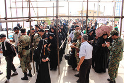 حضور پرشور زائران در مرز چذابه