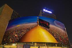 رونمایی از دیوارنگاره میدان ولیعصر/ بر محور عشق حسین در اتحادیم