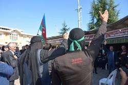 Rusya Azerileri'nden Irak sınırında matem töreni