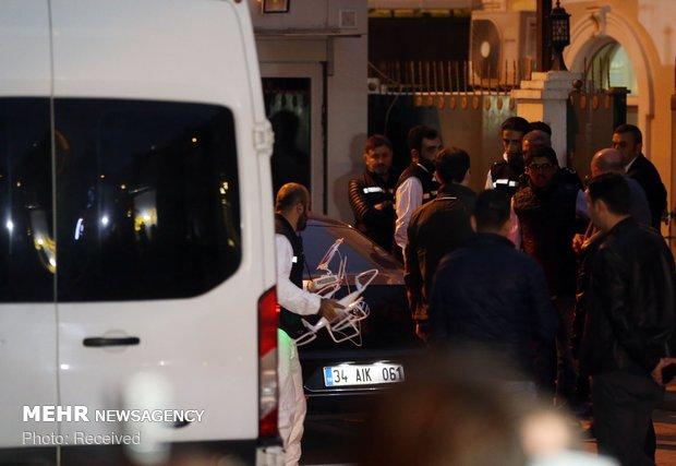 الشرطة التركية أخذت عينات مياه من بئر في القنصلية السعودية في إسطنبول