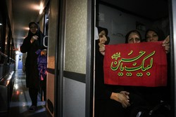انطلاق أول قافلة زوار عبر القطار من طهران للمشاركة بالأربعين الحسيني /صور