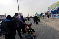 ۵۰۰ نفر زائر حسینی در اندیمشک اسکان داده شدند