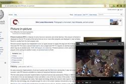 افزوده شدن قابلیت تصویر در تصویر به مرورگر کروم ۷۰