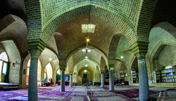 An interior view of the Jameh Mosque of Hamedan in central Iran