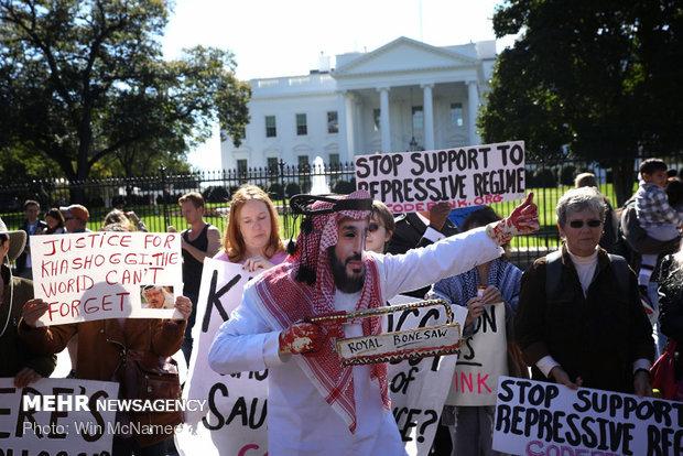 Beyaz Saray'ın önünde Suudi Arabistan karşıtı protesto