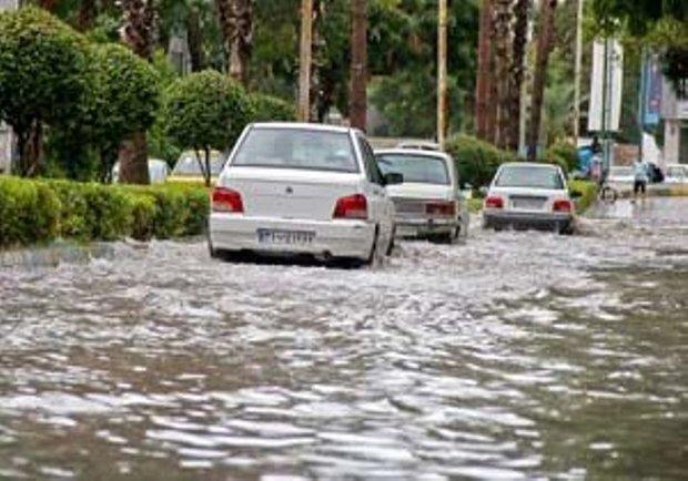 هشدار هواشناسی در خصوص رگبار باران و آبگرفتگی معابر در جنوب و غرب فارس