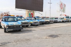 اجرای مانورارتقاء آمادگی ناوگان امداد جادهای ویژه اربعین درهمدان