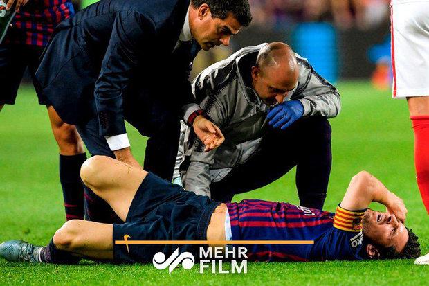 Messi'nin sakatlanmasıyla Barcelona sarsıldı