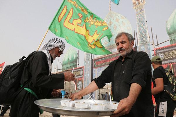 پذیرایی از زائران اربعین در مسجد جمکران و موکب عمود ۱۰۷۰
