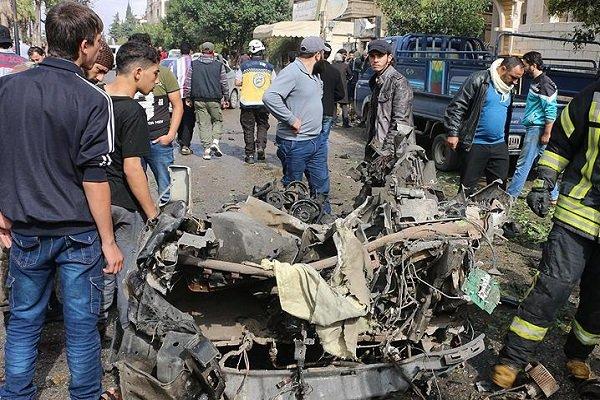 ۱۲ کشته در انفجار خودرو بمبگذاری شده در شهر «جسرالشغور» سوریه