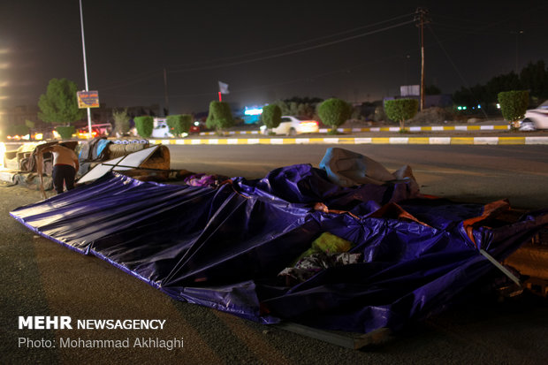 Storm hits Diwaniyah in Iraq