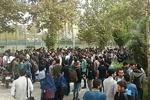 تجمع اعتراضی جمعی از دانشجویان دانشگاه امیرکبیر به کیفیت غذا