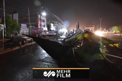 شبی طوفانی در مهران