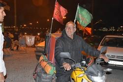 پیرمرد ۶۳ ساله؛ زائر «موتورسوار» اربعین