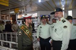 بازدید فرمانده انتظامی گیلان از روند تردد زوار اربعین
