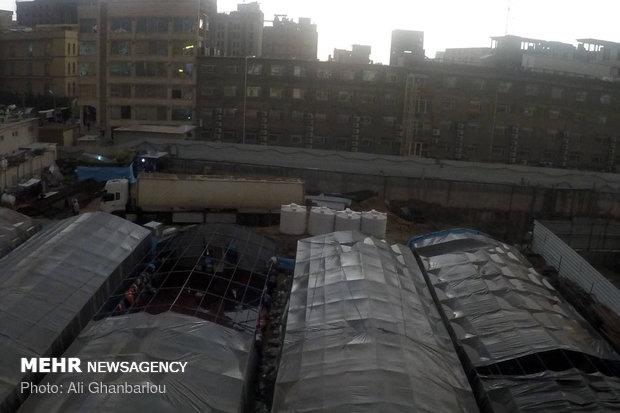 بارش باران و آبگرفتگی خیابان های کربلا