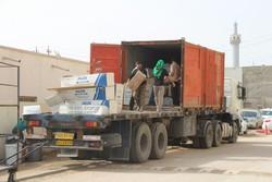 تجهیزات مورد نیاز مواکب لرستان با ۴۲ کامیون به عراق منتقل شد