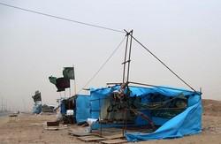 «باد و باران» در راه کرمانشاه /موکبها محکمکاری کنند