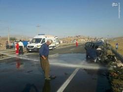 ۲ نفر در تصادف جاده مرند - خوی کشته شدند