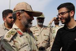 بازدید  فرمانده مرزبانی ناجا از مرز چذابه