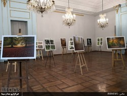 Photos are on display at the Hyrcanians, Eternally Green exhibition at Tehran's Niavaran Cultural Historical Complex on October 22, 2018. (IRIB)