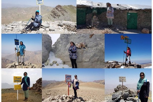 بانوی کوهنورد خارگی موفق به اجرای پروژه سیمرغ قلههای ایران شد