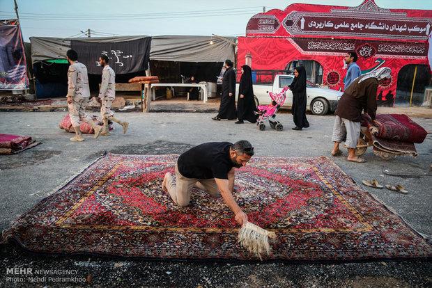 تردد زائران اربعین حسینی از مرز چذابه