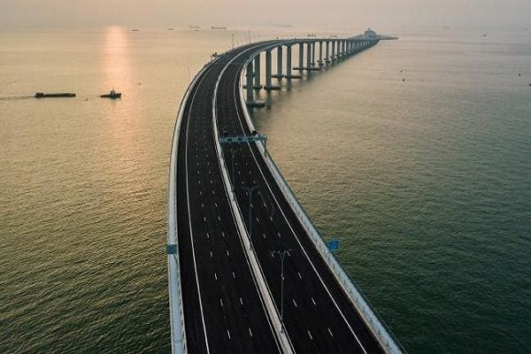 VIDEO: World's largest sea bridge opens in China