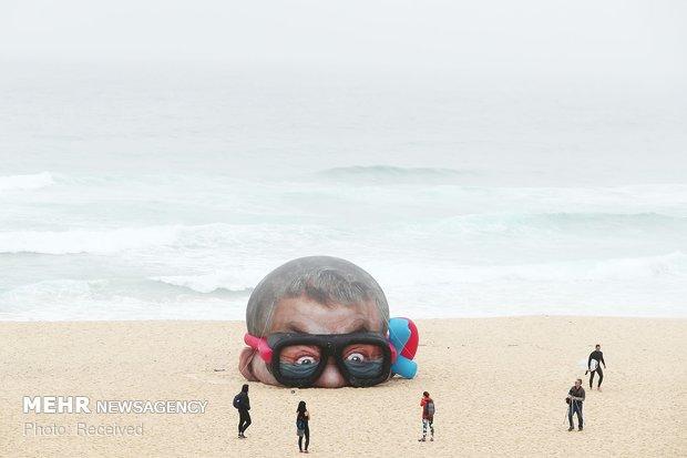 معرض الاعمال الفنية على الشواطئ