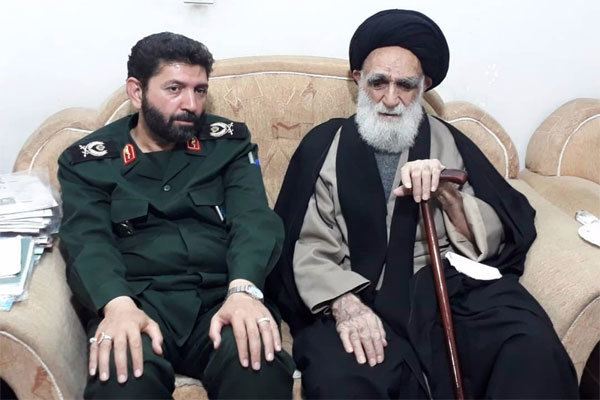 فرمانده سپاه سیدالشهدا(ع)استان تهران با آیت الله محمودی دیدار کرد